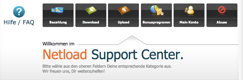 Netload Support Center